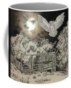Owl In The Moonlight On Brush Mountain Coffee Mug