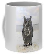 Owl On The Beach Coffee Mug
