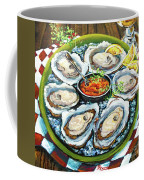Oysters On The Half Shell Coffee Mug by Dianne Parks