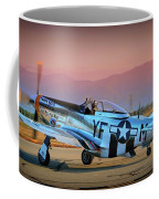 P-51d Mustang 'dakota Kid II. The Long Island Kid' And Casey Odegaard Coffee Mug