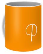 P In White Simple Script Coffee Mug