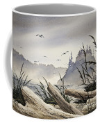 Pacific Northwest Driftwood Shore Coffee Mug by James Williamson