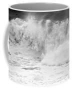 Pacific Ocean Breakers Black And White Coffee Mug