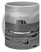 Pacific Ocean Coastal View Black And White Coffee Mug