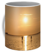 Paddle Boarding Out Of The Sunset Coffee Mug