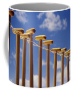 Paddles Hanging In A Row Coffee Mug