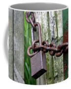 Padlocked Gate Coffee Mug