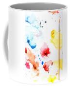 Paint Splatters And Paint Brush Coffee Mug