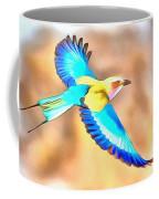 Painted Birds In Skyline Coffee Mug