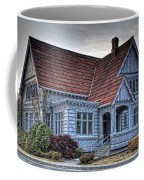 Painted Blue House Coffee Mug
