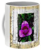Painted Flower With Peeling Effect Coffee Mug