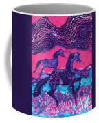 Painted Horses Below The Wind Coffee Mug