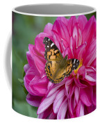 Painted Lady On Dahlia Coffee Mug