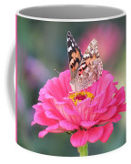 Painted Lady On Red Zinnia 3  Coffee Mug
