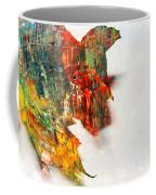 Painted Leaf Abstract 1 Coffee Mug
