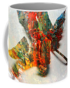 Painted Leaf Abstract 2 Coffee Mug