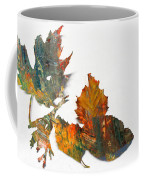 Painted Leaves Abstract 1 Coffee Mug
