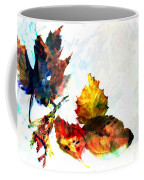 Painted Leaves Abstract 2 Coffee Mug