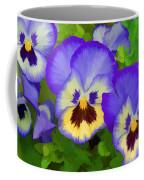 Painterly Pansies Coffee Mug