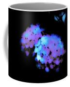 Painted Petals In Blue Purple Coffee Mug