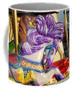Painted Purple Pony Coffee Mug