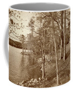 Painted Shore Camps In Sepia Coffee Mug