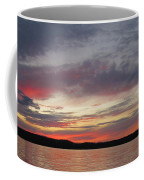 Painted Sunset On Gunflint Lake Coffee Mug