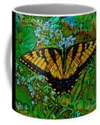 Painted Yellow Swallowtail Coffee Mug