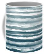 Painterly Beach Stripe 1- Art By Linda Woods Coffee Mug
