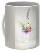 Painterly Homegrown Floral Bouquet Coffee Mug