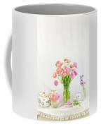 Painterly Ranunculus Tea Time Coffee Mug