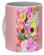 Painterly Tea Party With Fresh Garden Roses II Coffee Mug