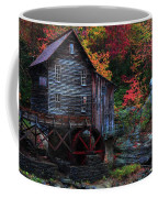Painting Babcock State Park Glades Creek Grist Mill West Virginia Coffee Mug