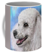Painting Of A White Fluffy Poodle Smiling Coffee Mug