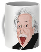 Painting Of Albert Einstein Coffee Mug by Setsiri Silapasuwanchai