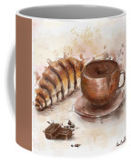 Painting Of Chocolate Delights, Pastry And Hot Cocoa Coffee Mug