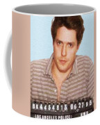 Painting Of Hugh Grant Mug Shot 1995 Black Color Coffee Mug
