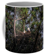 Pair Of Bald Eagles In Nest Coffee Mug
