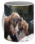 Pair Of Grizzly Bears Biting At Each Other Coffee Mug