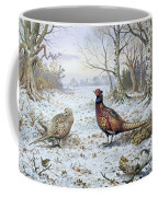 Pair Of Pheasants With A Wren Coffee Mug by Carl Donner