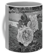 Pair Of Roses In Grayscale Coffee Mug