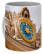 Palace Of Versaille Exterior Clock Coffee Mug