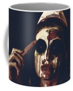 Pale Ghost With Black Eyes Thinking Up Bad Idea Coffee Mug