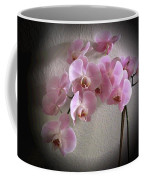 Pale Pink Orchids B W And Pink Coffee Mug