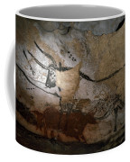 Paleolithic Art Of Bulls On Calcite Coffee Mug by Keenpress