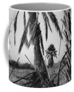 Palm In View Bw Horizontal Coffee Mug