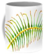 Palm Leaf Watercolor Coffee Mug