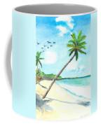 Palm Over Diani Beach Coffee Mug