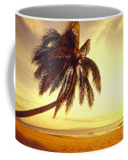 Palm Over The Beach Coffee Mug