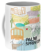 Palm Springs Cityscape- Art By Linda Woods Coffee Mug